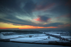 A model winter (@Gking_photo) Tags: winter sunset england sky snow blur colour silhouette clouds rural photoshop canon landscape photography countryside lowlight december bokeh country devon fields softfocus vignette tress 2010 westcountry tiltshift canon1740mmf4l canon50d