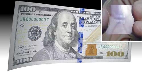 Electronic $100 bill