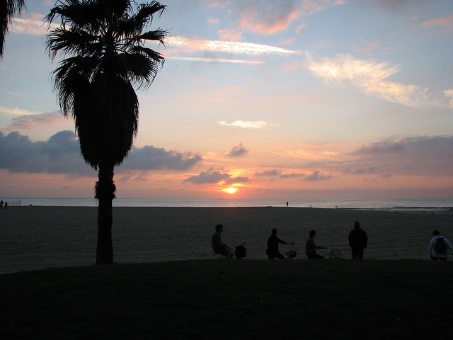 Sunset over Venice Beach atfer the Rains 12/23/10
