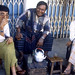 Time for tea, Rangoon, Burma,  December 1987
