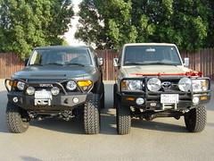lifted toyota side by side.3 (shine_on) Tags: truck desert 4x4 dunes toyota jeddah suv landcruiser saudiarabia  lifted fjcruiser          fzj76