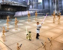 Jedi Ryan (captainkickstand) Tags: toy starwars yoda action space battle jedi knight lightsaber clone figures droids