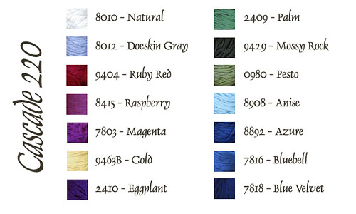 my colors in Cascade 220
