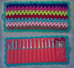 Crochet Hooks Wrap (LauraLRF) Tags: orange rayas thread felted stripes crochet wrap case cotton roll hilo naranja hooks agujas lineas algodon tejido ganchillo fieltro portagujas