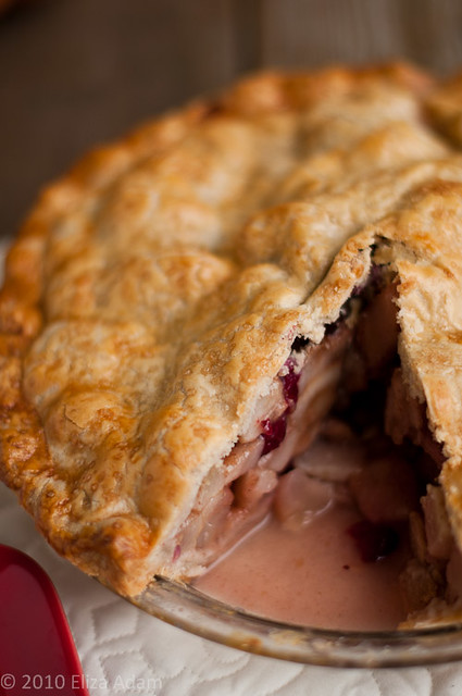 Pear-Cranberry Pie with Almond Meal Crust