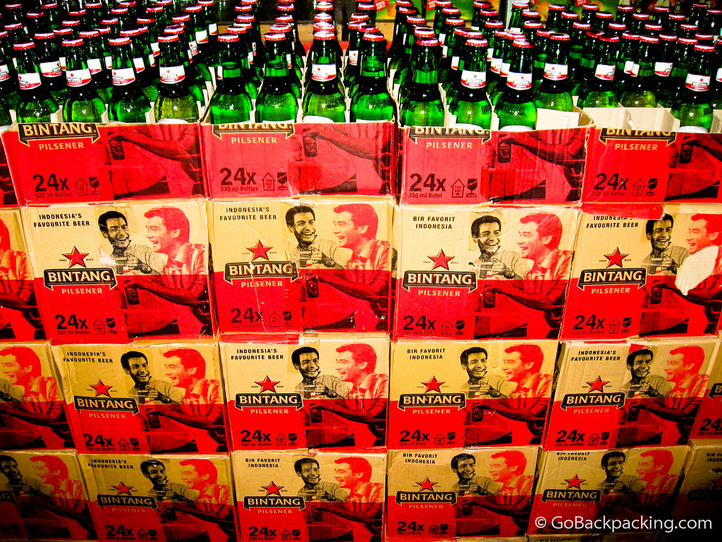 Bintang beer by the case