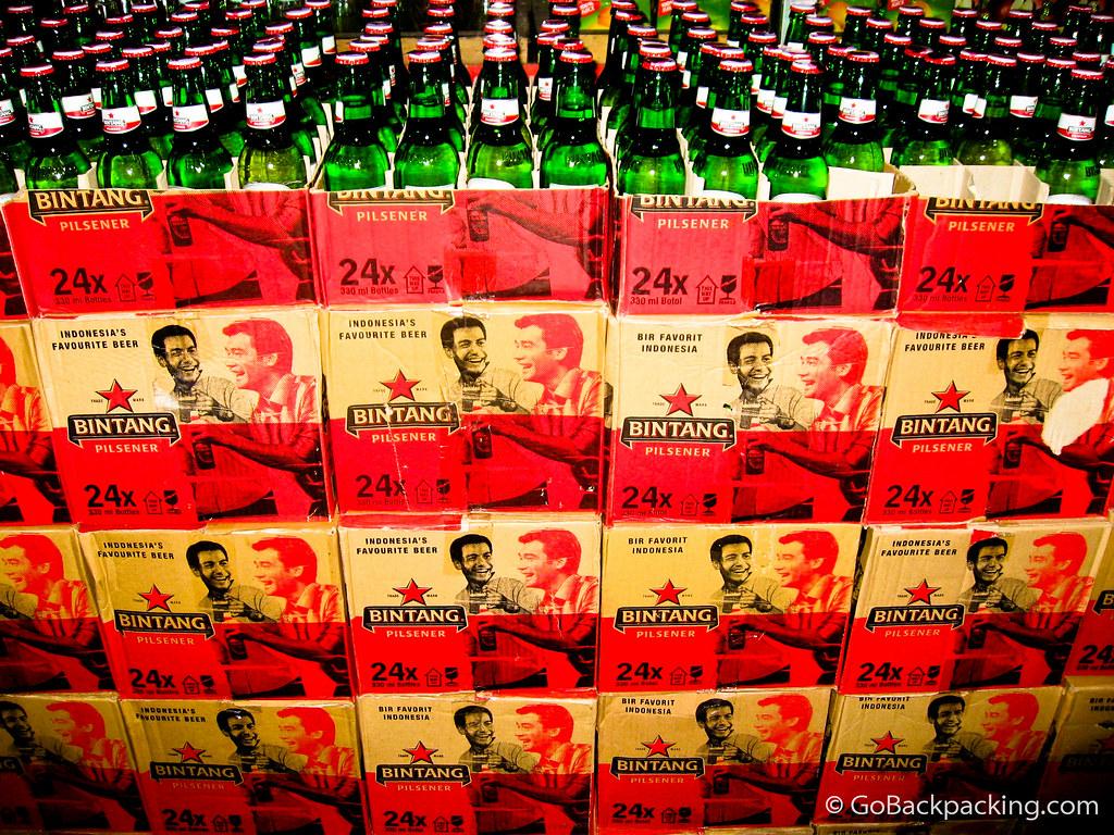 Bintang beer by the case