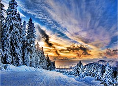 Vancouver BC (Nick Kenrick.) Tags: city travel winter sunset vacation sky holiday snow canada ski tourism vancouver clouds landscape skiing bc canadian vancouverisland pacificnorthwest hdr victoriabc nationalgeographic lotusland beautifulbc cypressbowl zedzap