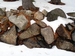Stone Wall in the Snow