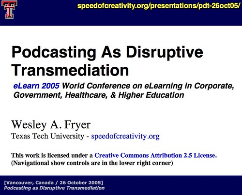 Podcasting as Disruptive Transmediation