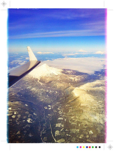Flying from Porland, OR to Denver on a Clear Winters Day