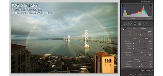 mejorar una foto de un arcoíris