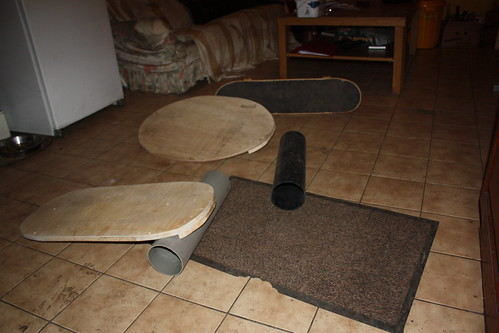 homemade balance boards (indoboards)