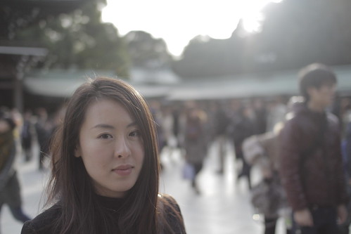 She was bathed in sunlight at Meiji Shrine