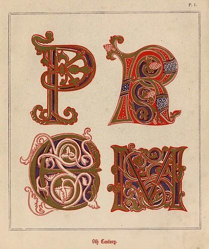 001- Medieval Alphabets and Initials 1886- F.G. Delamotte- Copyright 2006 illuminated-book.com& libros-iluminados.com