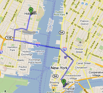 holland tunnel google maps