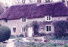 Dorset, 1985 -27 (paul_appleyard) Tags: place thomas birth cottage dorset thatch birthplace toit higher 1985 hardy thatched hardys chaume bockhampton