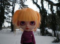 Amber looks lovely in lavender...