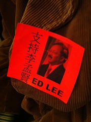 Ed Lee sticker Watch @SFGovTV http://bit.ly/oUmV7 #sfmayor (Steve Rhodes) Tags: cameraphone sf sanfrancisco california ca mobile moblog december 2010 iphone iphone4 iphonephoto december2010 iphoneography dec2010 iphone4camera iphone4photo