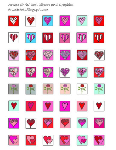 Valentine Images for Scrabble Pendants