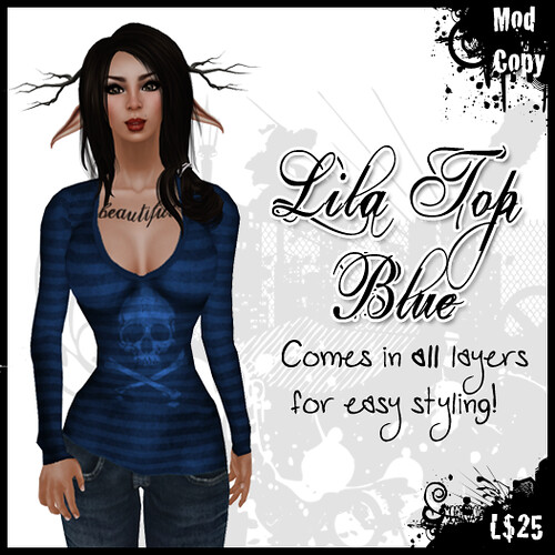 [IF] TOSL Item: Lila Top [Blue] Ad
