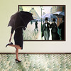 Rainy Day at the Museum (YetAnotherLisa) Tags: selfportrait rain umbrella heels bsquare teleidoscope truthandillusion gustavecaillebotteparisstreetrainyday