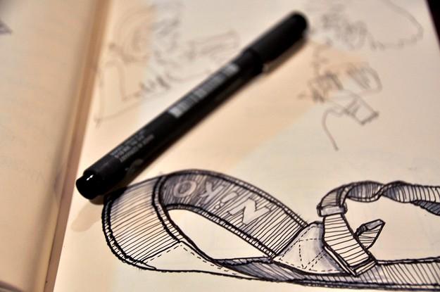 sketching in honies close up