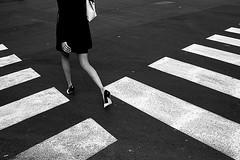(Donato Buccella / sibemolle) Tags: street blackandwhite bw italy woman milan fashion shoes legs milano streetphotography biancoenero elegante sanbabila walkonthewildside striscepedonali walkinggirl tralerighe sibemolle
