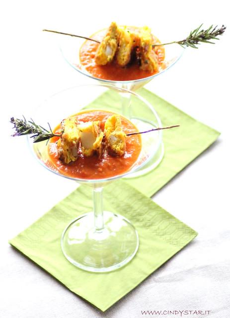 tortillas e salsa di peperone rosso