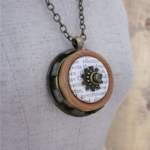 Vintage Book Necklace