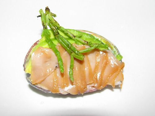 Abalone with Sea Beans and Cats' Grandma's Avocado