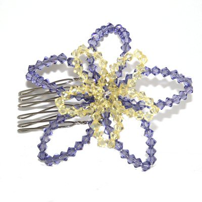 Purple and yellow lilly comb by Starstruck Designs