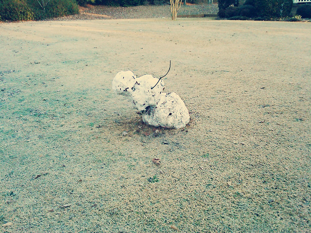 snowman melting