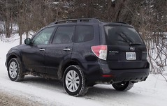 snow subaru forester
