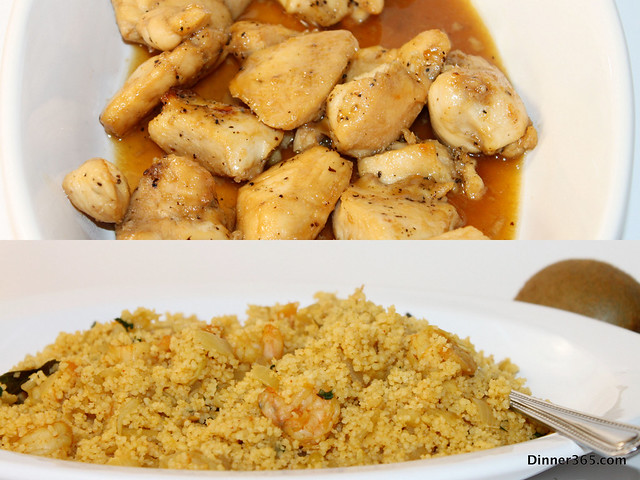 Day 13 - Shrimp Couscous and Honey Chicken