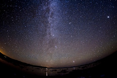 the lake, the milky way and the M31 (songallery) Tags: california leevining monolake usa star astronomy sky night longexposure landscape landscapes scenery light nikon d700 starry galaxy stardust celestial m31
