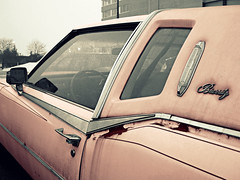 Mary Kay Smoked Menthols (Flint Foto Factory) Tags: city pink winter urban bw chicago cold beauty gm snowy rusty dirty cadillac eldorado chrome 1978 fading february cigarettes cosmetics sheridan aging luxury coupe edgewater biarritz brynmawr 2010 marykay menthol generalmotors beautyfades menthols worldcars personalluxury