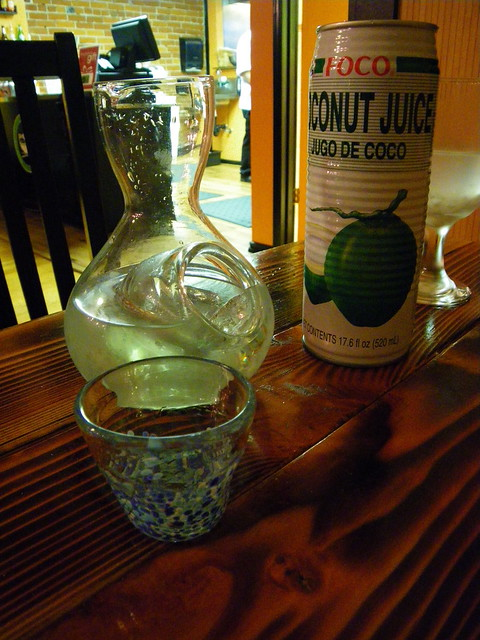 sake and coconut juice