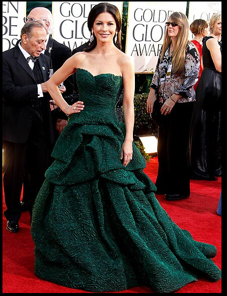 gg monique lhuillier gown catherine zeta jones