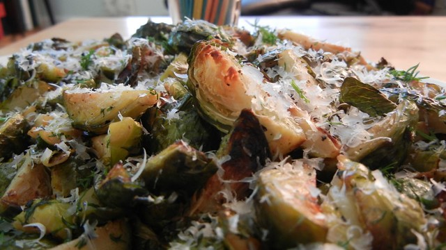 Roasted Dill Brussel Sprouts