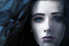 through II [Explore] (laura zalenga) Tags: blue portrait woman black girl face scarf bride eyes close pale stare hood cloth gaze ©laurazalenga
