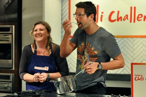 Winner Lori, Anthony Sedlak @ the Chili Challenge