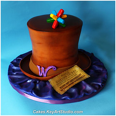 Willy Wonka Cake (Cakes.KeyArtStudio.com) Tags: birthday party brown cake movie gold purple chocolate montreal willywonka story ricepaper chocolatefactory fondant goldenticket wonkabar everlastinggobstopper modelingchocolate larissavolnitskaia keyartstudiocakes