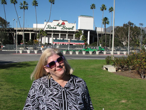 Mom at the Rose Bowl