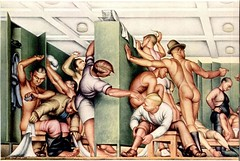 Paul Cadmus - YMCA Locker Room 1933 (CharmaineZoe) Tags: