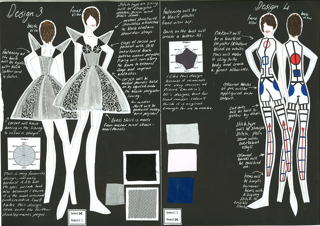 Design Ideas for Textiles A2 - Futuristic Fashion