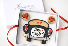 Just married cookies gift box (De Koekenbakkers) Tags: wedding love cookies car cookie hart justmarried huwelijk koekjes getrouwd koekje koekenbakker koekenbakkers dekoekenbakkers wwwdekoekenbakkers