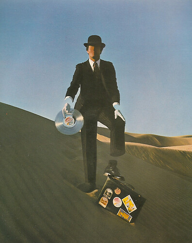 Hipgnosis Promotion Man from Wish You Were Here