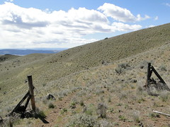 A gate a little past the Twin Springs area on Yakima Skyline trail.