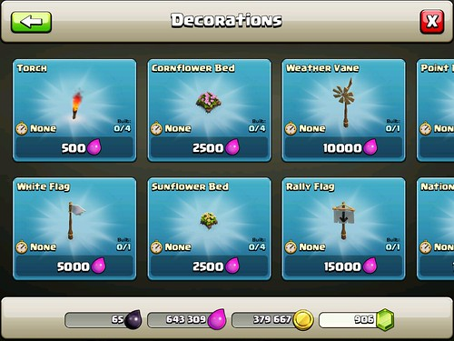 Clash of Clans Items Store: screenshots, UI